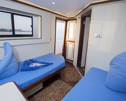 Sea Serpent - Upper Deck Twin Bed Cabin